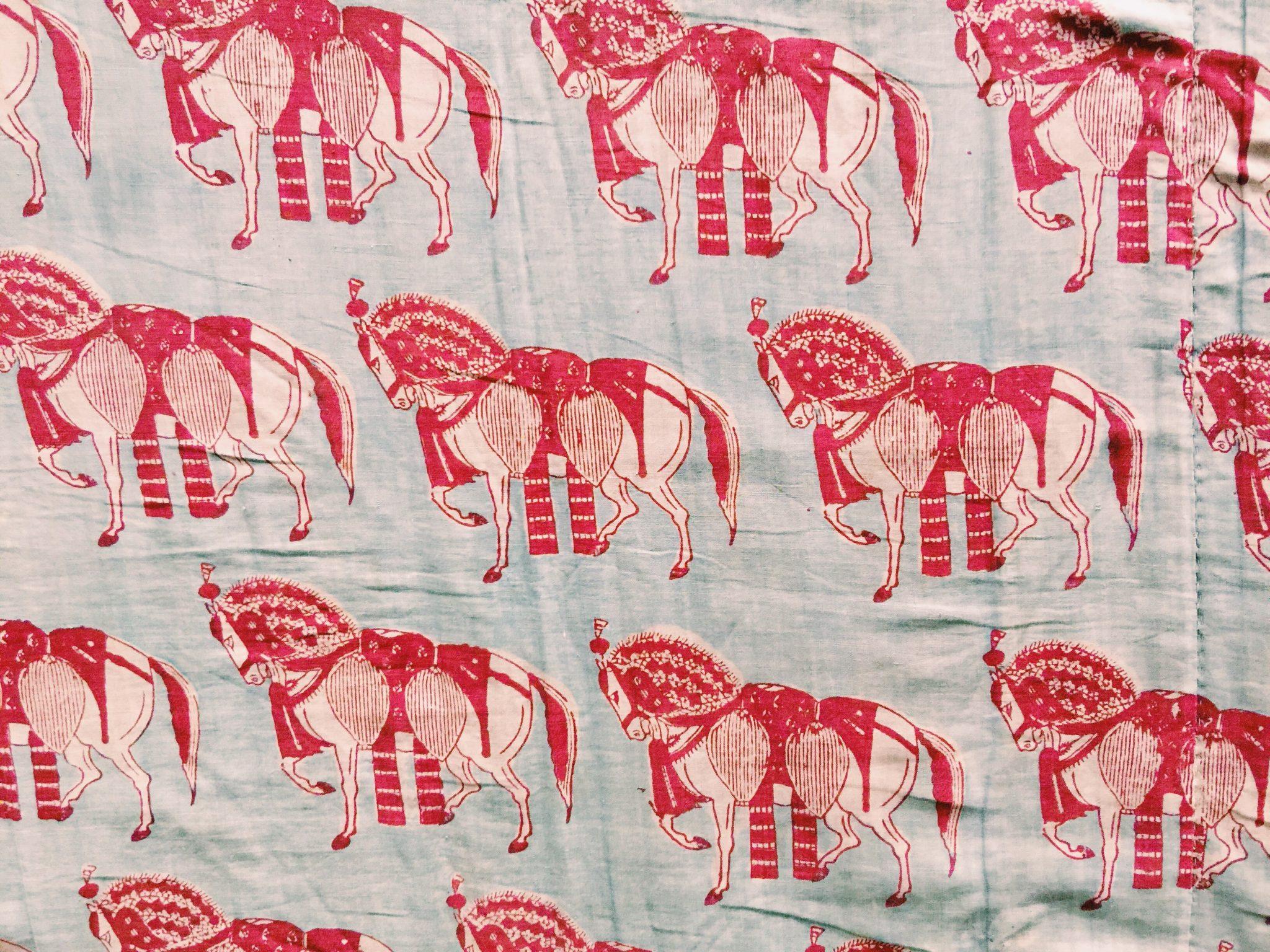 インドのプリントされた布