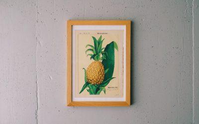 パイナップルのボタニカルアート