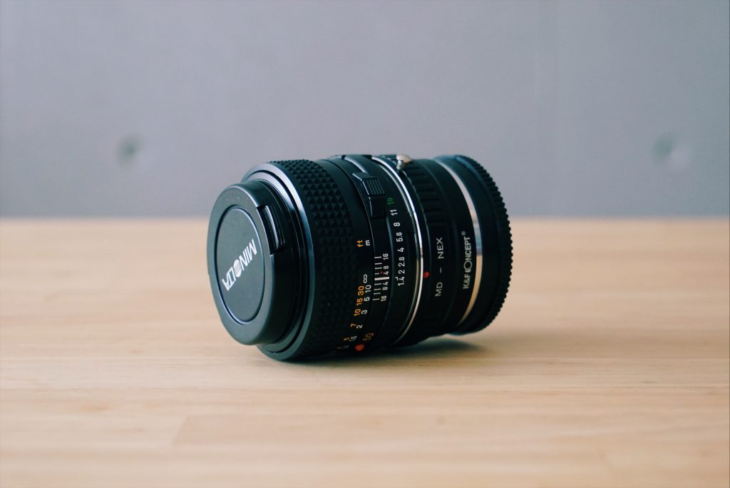 minolta new md50mm f1.4とマウントアダプター